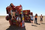 At the Cadillac Ranch outside Amarillo, on the roadtrip out to AZ
